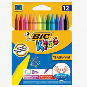 BIC KIDS PlastIdecor 12 Renk Pastel Boya